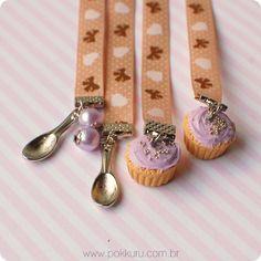 marcador de páginas fairy cake #cupcake #bookmark #book #miniature #cute #jewelry #accesories #sweet