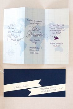Navy striped nautical custom invitations with a sail boat and ahoy 3 unique baby shower ideas travel themesbaby shower invitationsbaby filmwisefo