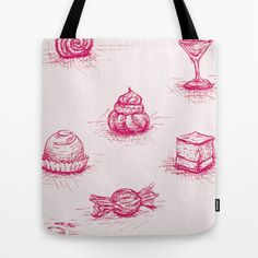 Sweet Tote Bag by Fru Kuhari - $22.00 Reusable Tote Bags, Sweet, Collection, Candy