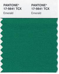 Verde esmeralda color @Pantone de 2013