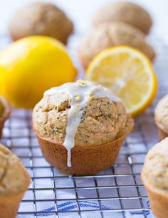 Flourless Lemon Poppy Seed Muffins- naturally sweet and perfectly moist + only 134 calories per muffin! (gluten-free, dairy-free and refined sugar-free)