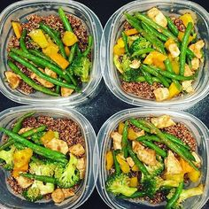 Quick and easy to prepare @matt__e__o has made chicken stir fry with many veggies for his meal prep! Paired with red quinoa these meals are protein-packed and look delicious! - Once you have a few meals youve prepared several times meal prepping becomes simple! Take the planning pains out of it by downloading @mealplanmagic! - ALL-IN-ONE TOOL & GUIDES -  Build Custom Plans & Set Nutrition Goals  BMR BMI & Max Rate Calculator  Get Your Macros by Body Type & Goal  Grocery Lists Automated to…