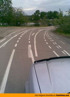 Time to call the optometrist. Road Lines, Funny Pictures, Images, Country Roads, Design, Funny Images, Hilarious Pictures, Funny, Roads