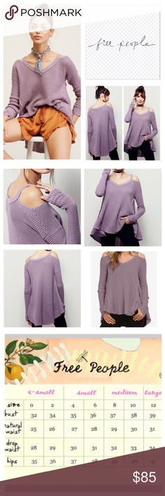 "Free People Moonshine Cold Shoulder Tunic.  NWT. Free People Moonshine Cold Shoulder Thermal Tunic, 100% cotton, machine washable, 22.5"" armpit to armpit (45"" all around), 24"" arm inseam, 26"" front length, 32"" back length, ribbed V neck, gathered at wrist, honey-comb textured, unfinished trim, oversized, effortless fit, high low hem, raw seams, measurements are approx.  NO TRADES Free People Tops"