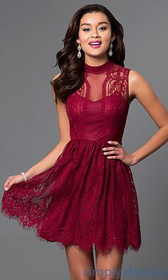 Shop sheer-illusion party dresses and sweet-16 dresses at Simply Dresses. The…