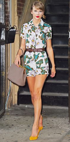 Look of the Day - July 3, 2014 - Taylor Swift in Topshop from #InStyle
