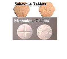 Suboxone and methadone tablets