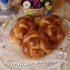Könnyű Gyors Receptek - Briós recept recept Bread Dough Recipe, Brie, French Toast, Muffin, Breakfast, Recipes, Food, Cakes, Morning Coffee