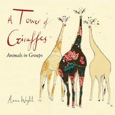Participating in the 2016 Nonfiction Picture Book Challenge has me constantly seeking new titles.  One book I discovered recently is A Tower of Giraffes: Animals in Groups (Charlesbridge, September 8, 2015) written and illustrated by Anna Wright.  It's a whimsical exploration of collective nouns guaranteed to impart several new tidbits of wisdom and wonder.
