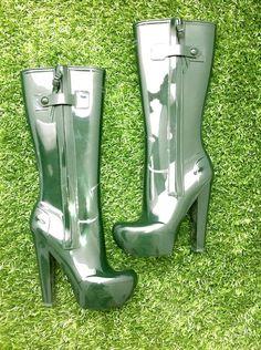 Louis Vuitton high-heel wellies