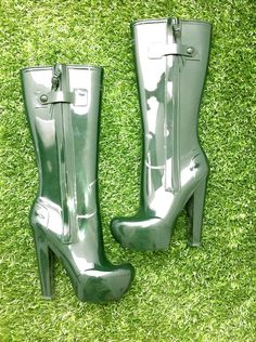 Louis Vuitton high-heel wellies