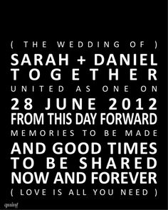 """Personalised prints - """"Wedding Keepsake"""" Create your own canvas. www.quintdesignstore.com"""
