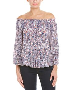 Rebecca Taylor Off-The-Shoulder Silk Top is on Rue. Shop it now.