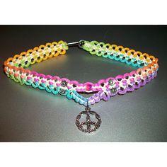 Items similar to Rainbow Hemp Necklace - Rainbow Hemp Choker - Peace Sign Hemp Jewelry - Peace Sign Necklace - Flower Peace Sign Rainbow Hemp Necklace on Etsy Hemp Necklace, Hemp Jewelry, Hemp Bracelets, Macrame Jewelry, Cute Jewelry, Jewelry Crafts, Handmade Jewelry, Beaded Necklace, Survival Bracelets