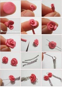 DIY Beautiful Polymer Clay Flower Step By Step - Art & Craft Ideas - Hobbies paining body for kids and adult Polymer Clay Kunst, Cute Polymer Clay, Polymer Clay Flowers, Fimo Clay, Polymer Clay Projects, Polymer Clay Charms, Polymer Clay Creations, Clay Beads, Polymer Clay Earrings
