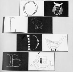 "atelier pour enfants: ""Alphabet Book"" - idea for kids art or draw them a special gift Art Auction Projects, Classroom Art Projects, Childrens Alphabet, Childrens Books, Alphabet Books, Artist Journal, Album Book, Book Layout, Preschool Art"