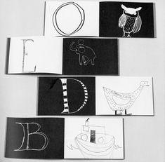 "atelier pour enfants: ""Alphabet Book"" - idea for kids art or draw them a special gift"