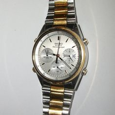 Vintage Seiko 7A38-7069 Men's Chronograph Quartz Watch #Seiko