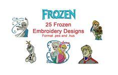 25 pack Elsa Anna borduurwerk ontwerpen bevroren borduurwerk