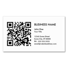 design your own QR code Business Card Template. This great business card design is available for customization. All text style, colors, sizes can be modified to fit your needs. Just click the image to learn more!