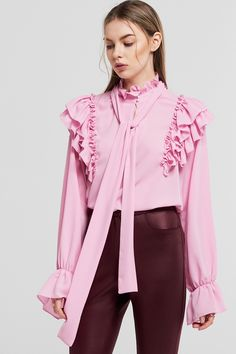 Bella Detachabled Tie Blouse Discover the latest fashion trends online at storets.com