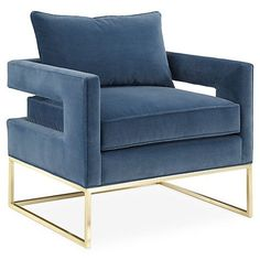 Incorporate gold by choosing a stunning accent chair and allowing it to be the focal point in any room.
