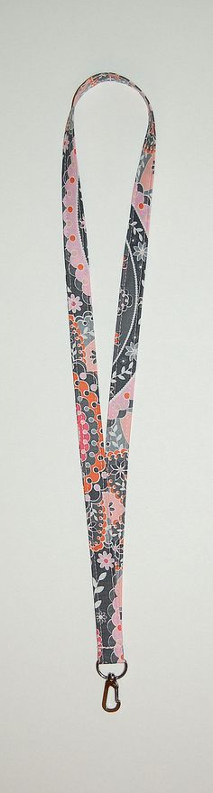 Intermission (Pink and Gray) Lanyard - Ready To Ship