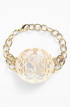 Monogram bracelet http://rstyle.me/n/nmwwnn2bn