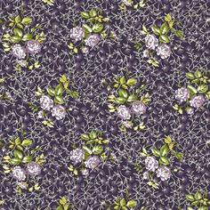 Sonnet (Grapevine) - Floral Fabric - The Textile District design to custom print for home decor, upholstery, and apparel. Pick the ground fabric you need and custom print the designs you want to create the perfect fabric for your next project. https://thetextiledistrict.com #designwithcolor #fabrics #interiordesign #sewing