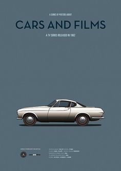 Poster of the car of The Saint. Illustration Jesús Prudencio. Cars And Films
