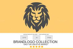 Angry Lion Logo by Brandlogo on @creativemarket