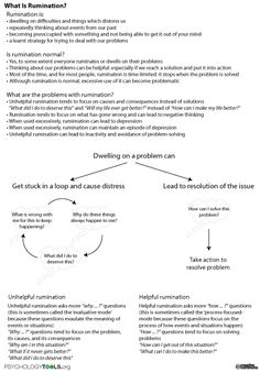anxiety rumination worksheets - Google Search