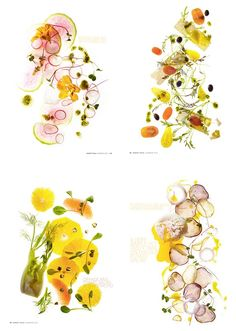 beautiful way to photograph salads