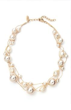 Free shipping and returns on Dabby Reid Three Strand Pearl Necklace at Nordstrom.com. Three layered strands feature lustrous glass pearls in varying sizes and shades.