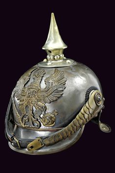 A cuirassier trooper's helmet  			                			  			   			                              			category:  			   			Militaria  			                			  			provenance:  			   			Prussia  			                			  			dating:  			   			  			circa 1900