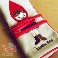 Little Red Riding Hood Roll-Up Pencil Case