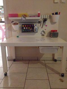 Ikea Hack Lack Bastel und Maltisch für Kinder