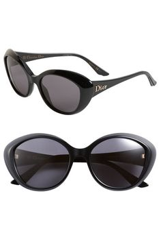 648884338a3 Dior Rounded Cat Eye Sunglasses. these look kinda like the ones my husband  STEPPED on
