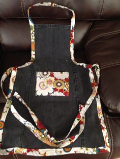 Upcycled Denim adult apron.  By Upcycled Diva
