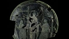 Beardless Jesus From The Late Roman Period Had Been Depicted In A Spanish Glass Plate.
