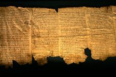 Dead Sea Scrolls: Discovered first in 1947 in desert caves. Ascribed by some scholars to the Essenes, an ancient Jewish sect, dated to the turn of B.C. to A.D.
