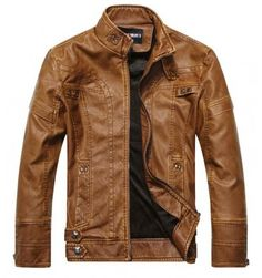 Cheap leather jacket men slim, Buy Quality jaqueta couro directly from China brand leather jacket men Suppliers: 2016 New Spring Autumn Brand Leather Jacket Men Slim Stand Collar Jaqueta Couro Bomber Casual Jacket Faux Leather Coat Suede Pu Jacket, Men's Leather Jacket, Faux Leather Jackets, Jacket Style, Leather Men, Jacket Men, Lambskin Leather, Biker Leather, Leather Coats