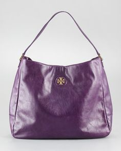 City Leather Hobo Bag by Tory Burch