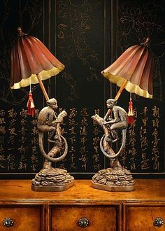 Wildwood Lamps Table Lamp, Monkey Lamp