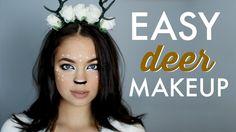 EASY Halloween Makeup Tutorial: Deer Inspired! - YouTube
