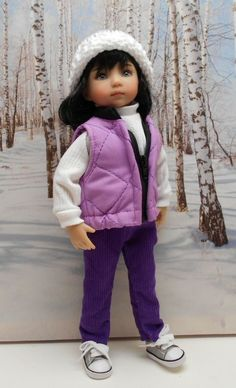 "Violet Quilted Vest Set by BEVBEESE to fit  13"" Little Darling  #bevbeese"