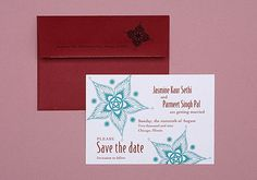 Starry Nights Save the Date (Indian, South Asian, wedding stationery)