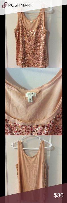 J.Crew gorgeous sequin top Perfect for girls night or date night! In like new condition J. Crew Tops Blouses