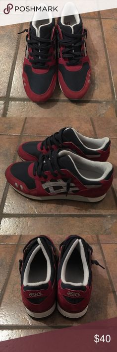 Asics mens gel lyte III Mens Asics burgundy navy and light gray gel lyte III barely worn Asics Shoes Athletic Shoes