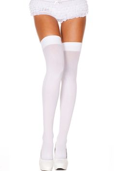 Making your own sexy nurse costume or naughty nurse costume is great for halloween or fancy dress. It is also popular for couples roleplay Opaque Stockings, Stockings Lingerie, Sexy Stockings, Nylons, White Thigh High Socks, Sexy Rock, Sexy Nurse Costume, Bas Sexy, Provocateur